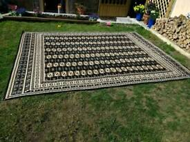 Extra large brown/black rug