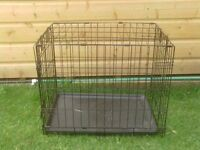 SMALL DOG CAGE WITH TRAY £12