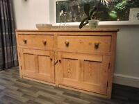 Classic Antique Pine Sideboard/Dresser Base/Cupboard