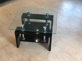GLASS OCCASIONAL Calico Lamp Table Black