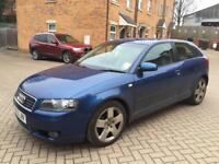 2003(NEW SHARE) AUDI A3 SPORT FSI 2.0 PETROL 6 SPEED 150 BHP FULL SERVICE HISTORY 2 X KEYS