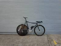 TT retro Cinelli bike. Carbon wheels.