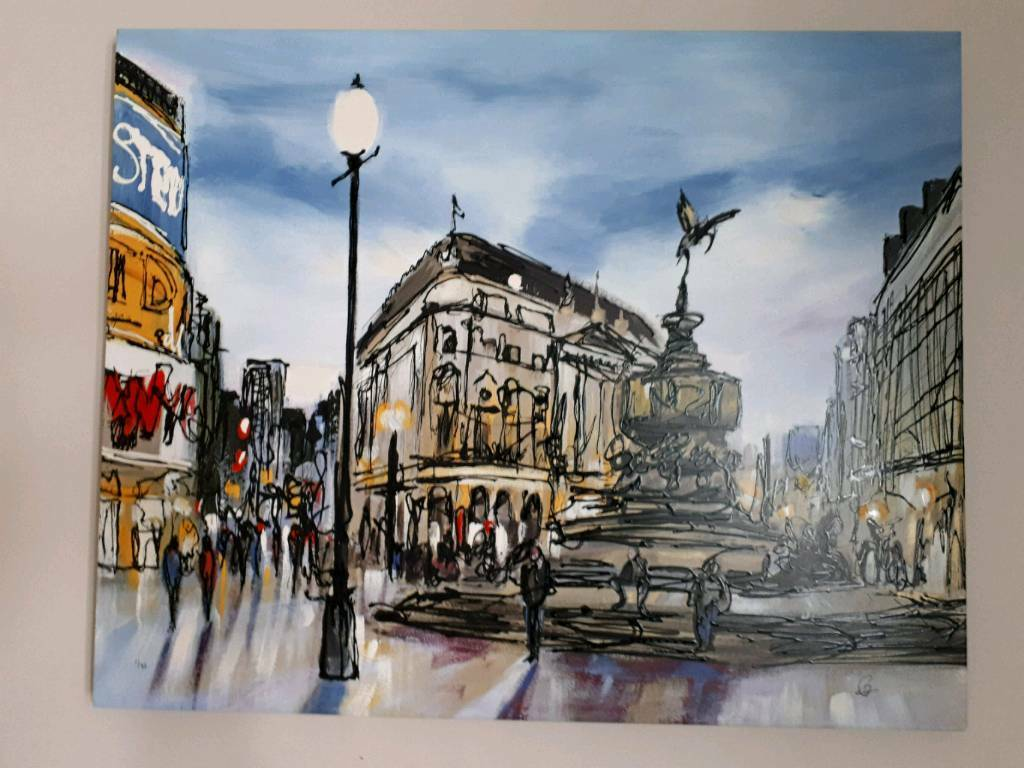 Paul Kenton Piccadilly Painting 195 Very Special In Willesden