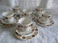 Royal Vale l960s/70s 18 Trios and 2 Sugar Basin sAutumn Pattern 8216