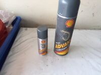 Shell advance chain ultra. 2 cans