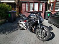 Kawasaki ER6n 2013 650cc with upgrades and accessories
