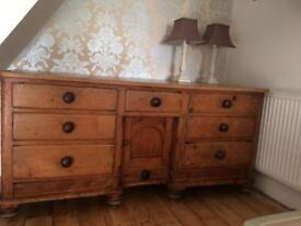 Very old antique sideboard