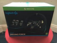 Logitech G920 Driving Force Steering Wheel and Pedals XB1/PC Boxed