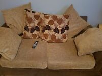 2 & 3 seater sofa with matching storage pouffe