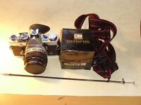 OLYMPUS OM2n CAMERA with 50mm ZUIKO LENS in GOOD CONDITION, CAN POST OR COLLECT MAIDSTONE KENT