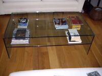Marks and Spencer Glass Coffee Table, excellent condition, priced for quick sale