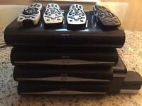 Sky box boxes, broadband hub remotes etc.