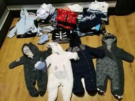 Baby boy bundle 0-3 3-6 over 110 items