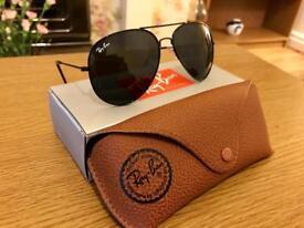 RayBan 3026 Black Aviator sunglasses