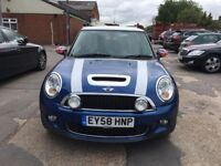 mini cooper s blue 2008 only 51000 miles with 1 year mot hpi clear stunning!!