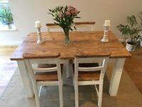Solid wood kitchen/dining table - 4-6 seater