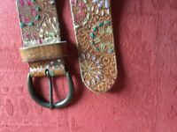 FATFACE - LEATHER BELT - M
