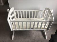 Baby white crib