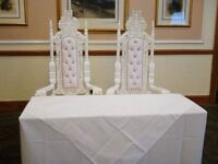 His & Hers throne chairs £100