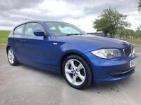 BMW 1 SERIES 2.0 116I SPORT 3d 121 BHP LADY OWNER, MAY 2011 REGISTERED (blue) 2011