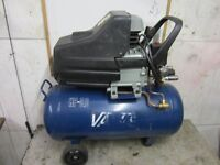 Valley Air Compressor 50 liter tank 30HP Single phase with twin outlet - good compressor works well