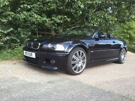 Carbon Black M3 convertible, manual transmission, full engine re build 2 years ago sound system!