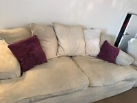 Large DFS 3 + 2 seater sofa for sale