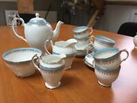 Salisbury bone China coffee / tea set. Coffee and six cups and saucers.