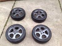 """Peugeot 15"""" alloy wheels grey"""