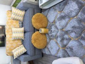 Grey & Ochra soft furnishings