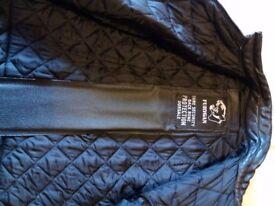 Men's motorbike leather jacket.