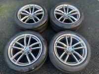 18'' GENUINE BMW 5 SERIES G30 G31 662 STYLE M SPORT ALLOY WHEELS TYRES ALLOYS 520D 530D 5X112
