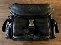 ANTLER FAUX LEATHER CAMERA BAG - BLACK