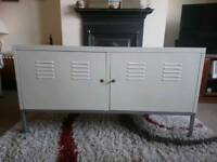 Ikea lockable metal sideboard with shelf and key