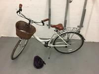 Ladies bike for sale s/m frame basket and added back carry