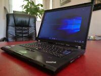 Lenovo Thinkpad T500 laptop - Windows 10 - SSD Drive