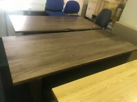 NEW 2m walnut boardroom table - sits 6/8 people - large office desk