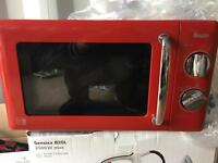 Brand new red swan microwave