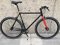 Single speed road bike, 56cm