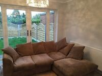 NEW DFS JUMBO CORD CORNER SOFA CAN DLEIVER FREE