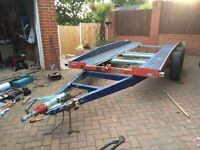 Car recovery trailer .