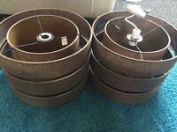 """Lampshades B&Q Brown 14"""" diameter"""