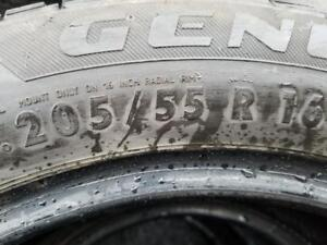 2 PNEUS HIVER GENERAL 205 55 16    2 WINTER TIRES