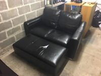 2 seater sofa and foot stool for sale