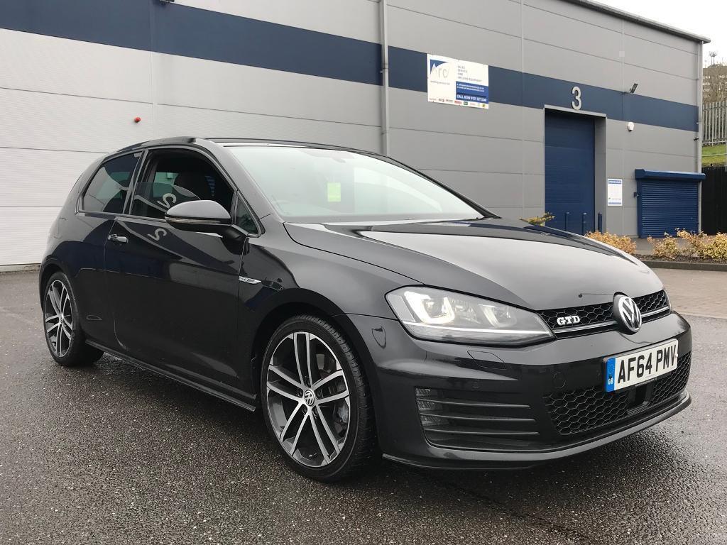 2014 64 plate Volkswagen Golf Gtd dsg 3 door in black mk7 auto automatic diesel - bargain | in ...