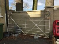 Metal gate for driveway