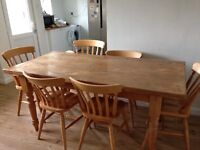 6ft Table & 6 chairs including 2 carvers