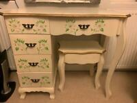 Floral hand painted make up table