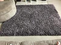 Luxury shaggy long pile rug 120x160cm