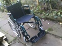 SELF PROPEL FOLDING WHEELCHAIR IN GOOD CON IS LIGHTWEIGHT CAN DELIVER